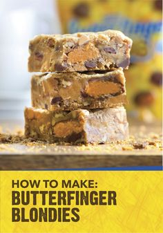 When celebrating your recent graduate, host a backyard get together with your friends, family and a delicious dessert bar. Feature this recipe for Butterfinger Blondies, which are filled with the crispety, crunchety, peanut-buttery taste of BUTTERFINGER® Bites.
