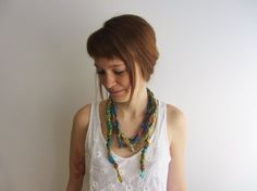 Sari Silk Necklace / Scarf Necklace by Abrahamsson Co, $25.00