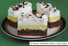 Kanalas habos-túrós sütemény - sütőporos Hungarian Desserts, Hungarian Cake, Hungarian Recipes, My Recipes, Dessert Recipes, Cooking Recipes, Bread Dough Recipe, Cake Bars, Winter Food
