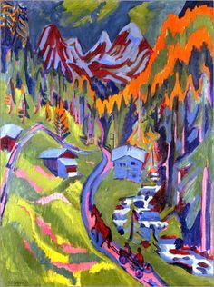 Ernst Ludwig Kirchner Sertigweg im Sommer. 1923 Poster online bestellen | Posterlounge