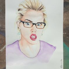 Emily Bett Rickards  Felicity Smoak - Overwatch  Arrow, the Arrow  Artwork, drawing, fanart, comics  DC comics