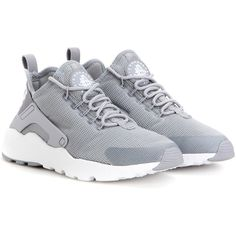 Nike Nike Air Huarache Run Ultra Sneakers ($140) ❤ liked on Polyvore featuring shoes, sneakers, grey, nike trainers, nike footwear, nike sneakers, nike and grey shoes
