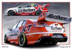 V8 Supercars Holden Dealer Team Marlboro Livery