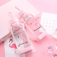 Best Square Cactus Flamingo Glass Cup Water Bottle Portable Water Cup is hot-sale at wholesale prices now, buy Square Cactus Flamingo Glass Cup Water Bottle Portable Water Cup and be enjoyable Mobile. Pink Love, Cute Pink, Pretty In Pink, Peach Aesthetic, Aesthetic Colors, Imagenes Color Pastel, Pusheen, Girly Things, Cool Things To Buy