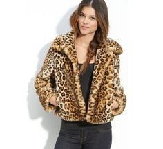 Luving this Leopard Faux-Fur jacket from Gallery!