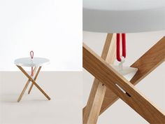 Simon Busse designed the Marionet side table for the Mox Company