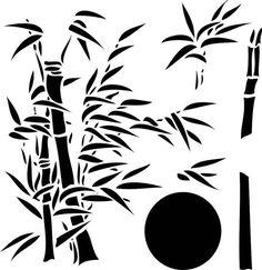 Bamboo #2 on Reusable 10MIL Laser-Cut Stencil - pearldesignstudio