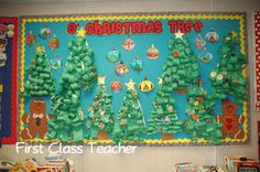Classroom DIY christmas trees