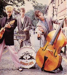 The Stray Cats in 1980. I'm not sure who they are, but I'm about to find out.