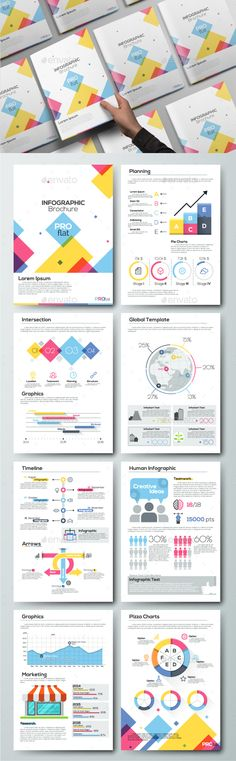 Pro Flat Infographic Brochure Set 6 Ai Illustrator Brochure