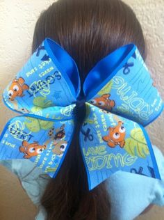 Nemo+Cheer+Bow+by+AnnieBowBannieBows+on+Etsy,+$10.00