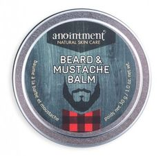 Anointment - New Brunswick, Canada--- Use Anointment Beard & Mustache Balm to soften dry whiskers, shape and mould your mustache or apply to face and neck after shaving to moisturize and soften. Contains Canadian-grown certified organic sunflower and certified organic jojoba oils. Sage, cedar and lavender essential oils help balance and calm the skin. Pair with our Woodland Sage soap for a co-ordinated scent or to make a great gift set! A solid form of our Beard Oil for gentlemen