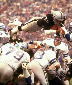 Marcus Allen 1983 Raiders, ,, touch down raiderrss!!!