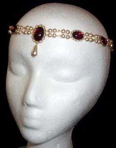 Renaissance Medieval Circlet, Jeweled headband and Jeweled Hair Pins Collection