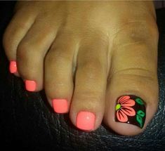 Cute toe nail art design for summer | unas | #nailart #Toenailart #DesignForToenails