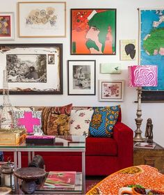 Love the eclectic look of all the colorful pictures