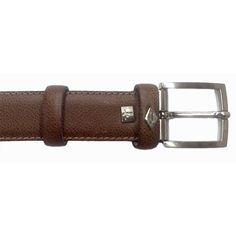 Cinturón en piel grabada color cuero de Lottusse
