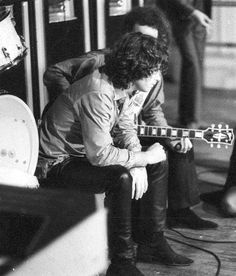 "the60sbazaar: "" Jim Morrison and Robby Krieger take a break """