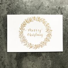 This simple and stylish Christmas card is hand drawn with gold ink. This handmade card is more meaningful to the recipient in this greetings season, and just as attractive as any store bought card! They are unique, one of a kind, not mass produced and impersonal. This is a perfect to