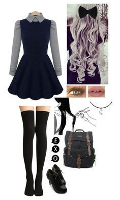 """""""Untitled #163"""" by typical-ghoul ❤ liked on Polyvore featuring Bravo, claire's, Ollio, women's clothing, women's fashion, women, female, woman, misses and juniors"""