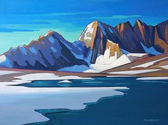 Nicholas Bott October 2016 Exhibition at Mountain Galleries' Banff location. Landscape Artwork, Abstract Landscape, Watercolor Landscape, Canadian Painters, Canadian Artists, Paintings I Love, Seascape Paintings, Posca Art, Mountain Paintings