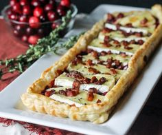 Cranberry Brie Tart with Pancetta and Thyme