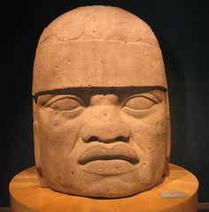 Olmec colossal head:Monument 6, one of the eight colossal heads discovered at San Lorenzo Tenochtitlan. It was carved from basalt boulder