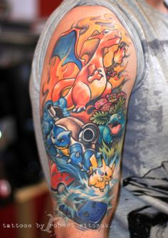60 Charizard Tattoo Designs For Men - Pokemon Ink Ideas Nintendo Tattoo, Pokemon Tattoo, Charizard Tattoo, Gaming Tattoo, Pokemon Charizard, Pikachu, Gamer Tattoos, Anime Tattoos, Future Tattoos
