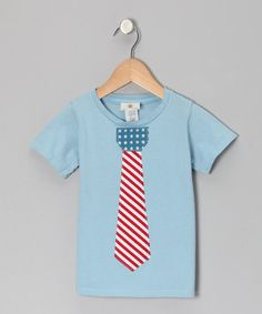Blue Vintage Patriotic Tie Tee - Infant, Toddler & Boys by Wonder Me on #zulily