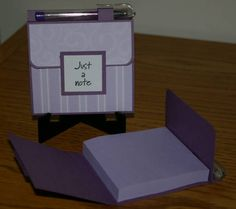 Post It Note Holder by shelia - Cards and Paper Crafts at Splitcoaststampers