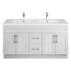 Cutler Kitchen & Bath Classic Transitional 60 in. Double Bathroom Vanity - CCTRFH60DBT