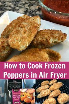 Air Fry Recipes, Air Fryer Dinner Recipes, Air Fryer Recipes Easy, Milk Recipes, Ninja Recipes, Bacon Recipes, Air Fryer Recipes Jalapeno Poppers, Jalapeno Bites, Frozen Appetizers