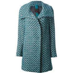 FEMME geometric print coat (20.685 RUB) found on Polyvore
