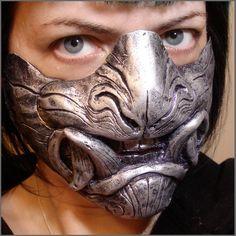 Demon half mask by *missmonster on deviantART