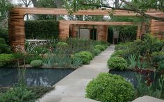 Teenage Cancer Trust garden designed by Joe Swift. Lovely structures and textured planting