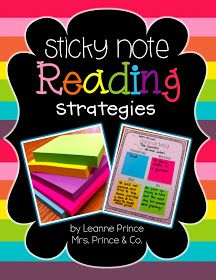 mrs. prince & co.: More Sticky Notes! This time its reading SKILLS!