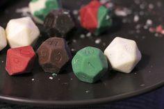 Last minute geek gift: DIY chocolate gaming dice.