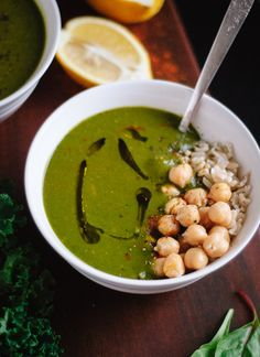 Redeeming green soup with lemon and cayenne recipe - cookieandkate.com