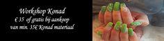 Volgende week zaterdag 26 november gaat onze Konad-workshop weer door!  Wil jij ook leren om op eenvoudige manier met stempeltjes prachtige nail art te maken? Dan is dit een workshop voor jou!  Deze workshop is GRATIS als je voor 35€ Konad-materiaal aankoopt.  Heb je al wat spulletjes en wens je liever niets te kopen, dan is het lesgeld 35€.   Inschrijven kan via info@BlueSage.be