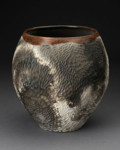 "Nancee Meeker, ""Untitled"" 1984, terra sigillata, earthenware, 10.5""."