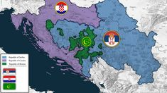 Partition of Bosnia and Herzegovina along the ethnic lines Alternate Worlds, Alternate History, Imaginary Maps, Cultura General, Fantasy Map, European History, Historical Maps, Bosnia And Herzegovina, Worlds Of Fun