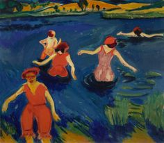 Max Pechstein (Germany 1881-1955) Bathers (1910) oil on canvas 70.49 x 80.65cm