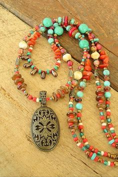 Boho Necklace Turquoise Jewelry Southwest Jewelry by #necklaceprojects