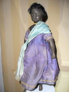 Unusual Pierotti Poured Wax Doll In Original Clothing c1900 from theluckyblackcat on Ruby Lane
