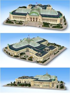 Grand Palais by lemog3d is stunning! The entire model is only 1.5 MB in OBJ format, but the use of excellent textures and careful 3D modeling has yielded a result that is truly a visual treat!