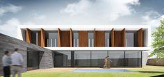 Ideas de #Exterior, Porche, Terraza, estilo #Moderno color  #Marron,  #Blanco,  #Gris, diseñado por 08023 - Arquitectura   Diseño   Ideas  #CajonDeIdeas