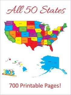 Study unit - 50 States Unit Study printable pages) – Study unit Geography For Kids, Geography Activities, Geography Worksheets, Family Activities, Learning Activities, Teaching Ideas, 50 States, United States, States And Capitals