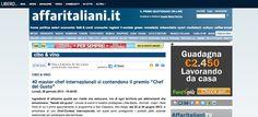 I Salotti del Gusto su Affari Italiani http://affaritaliani.libero.it/rubriche/cibo_vino/40-master-chef-internazionali-contendono-premio-chef-gusto.html