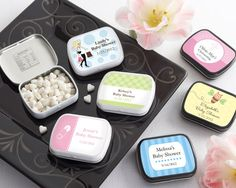 Personalized Mint tin. Baby shower favor