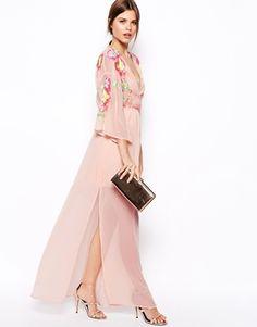 ASOS Kimono Dress With Floral EmbellishmentSo Beautiful and Classy